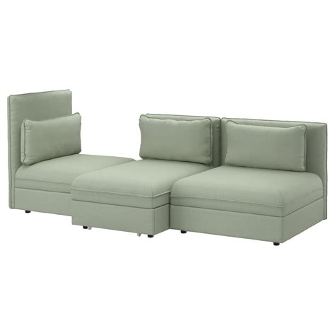 three and two seater sofas vallentuna 3 seat sofa with bed hillared green ikea