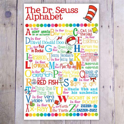 dr seuss printable alphabet letters the dr seuss alphabet print jumping jax designs