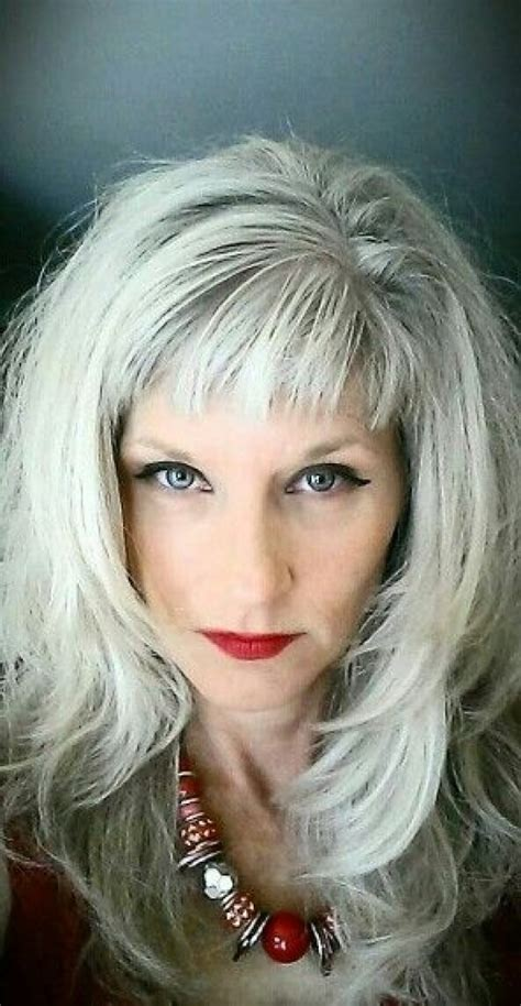 long gray hair with bangs the silver fox stunning gray hair styles