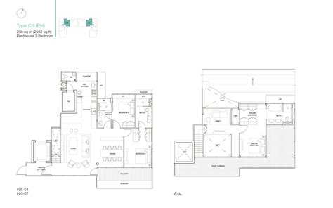 Ola Residences Floor Plan by Penthouse 3 Bed Ola Residences