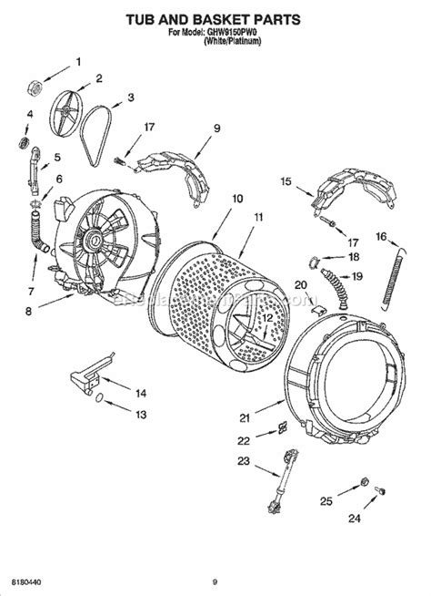 whirlpool washing machine parts diagram whirlpool ghw9150pw0 parts list and diagram