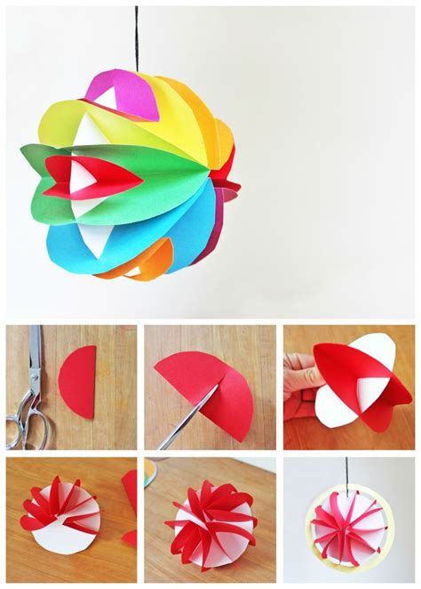 Paper Craft Ornaments - easy planet craft for 3d paper planets 3d paper