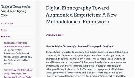 ethnographic dissertation digital ethnography paper is out