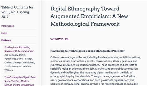 Ethnographic Essay Exles by Digital Ethnography