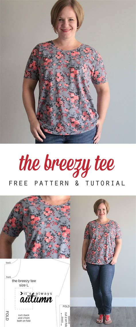 easy t shirt pattern free the breezy tee freeneedle