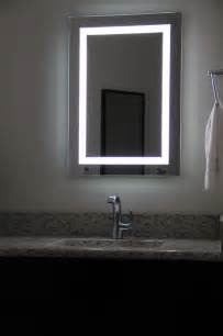 lighted bathroom mirrors lighted image led bordered illuminated mirror large