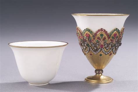 ottoman with cup holder an ottoman gold and jeweled cup holder zarf in 1514543