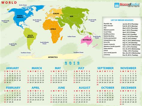 october 2012 mapping worlds 2012 world map with calendar