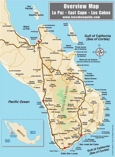 map of mexico cabo los cabos area overview map san jos 233 cabo baja mexico