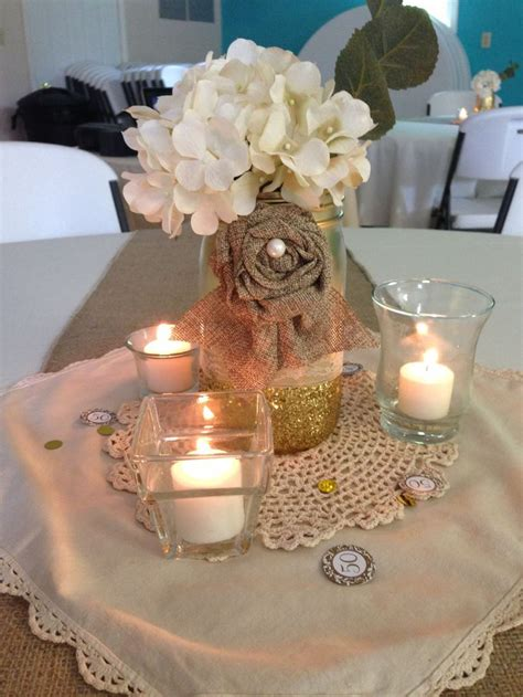 centerpieces for a 50th birthday centerpiece 50th anniversary