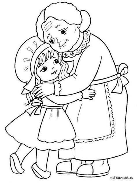grandma coloring pages free printable grandma coloring pages