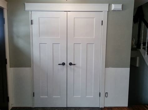 Before And After Replacing Bi Fold Doors With Double Doors How To Replace Bifold Closet Doors