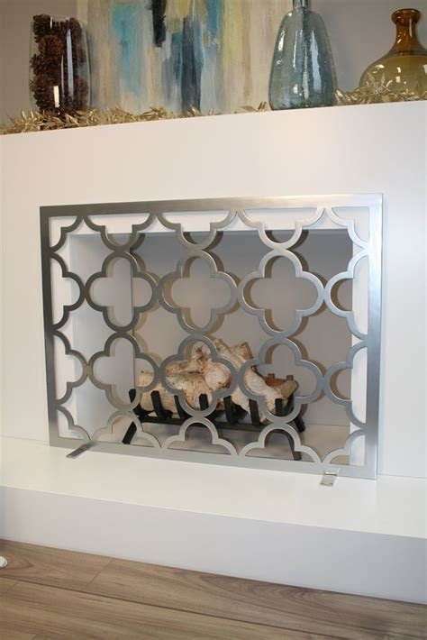 quatrefoil fireplace screen fireplace screens