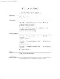 free online resume templates printable free samples
