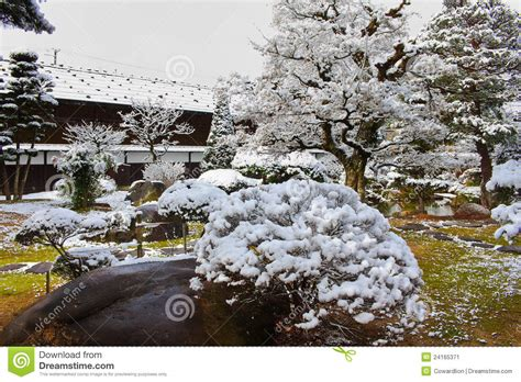 japanese garden in winter japanese garden in winter stock image image 24165371
