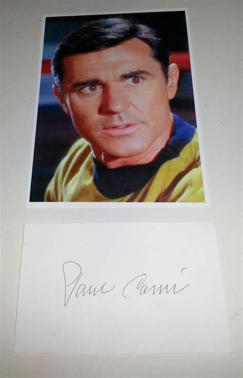 actor paul comi actor paul comi signed card and nice star trek tos 5x7
