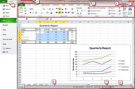 excel gui layout excel 2010 user interface officetutor usa