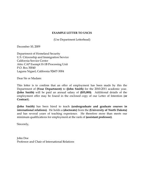 Letter Of Recommendation Uscis uscis cover letter sle the best letter sle