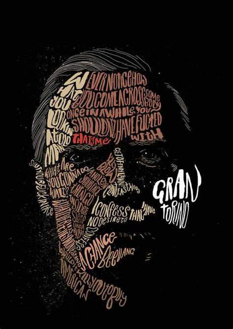 tutorial typography portrait illustrator alternative movie poster for gran torino by peter strain