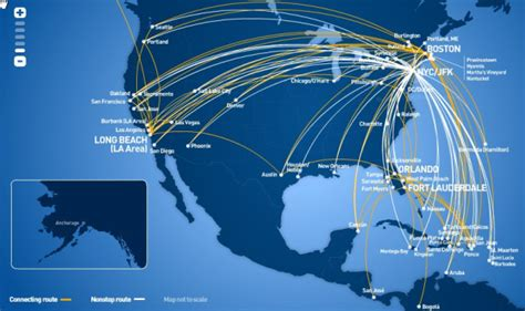 jetblue route map jetblue airways and south airways expand their interline partnership world airline news