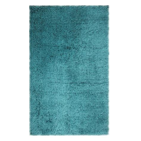 Microfiber Area Rug Chesapeake Merchandising Microfiber Shag Teal 5 Ft X 7 Ft Area Rug 79207 The Home Depot