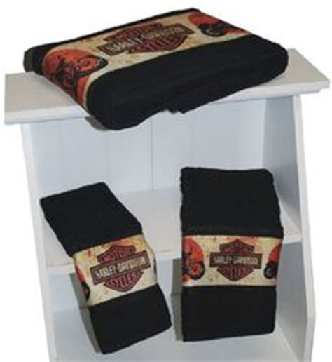 Harley Davidson Bathroom Accessories Harley Bathroom Decor On Harley Davidson Towel Set And Towels