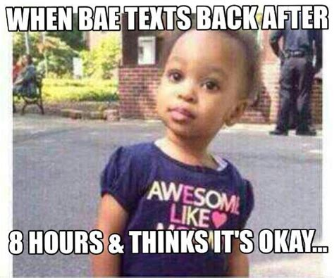 bae texts    hours  thinks
