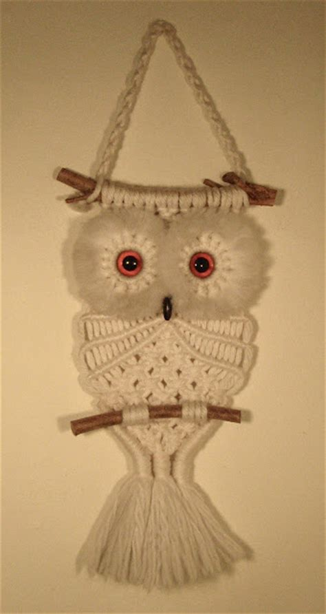 Macrame Animal Patterns - it s my macram 233 owl it s my cake