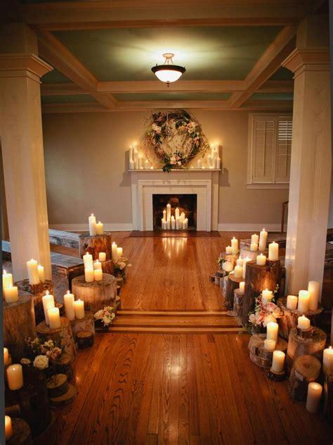 wedding altar  aisle decor winter wedding ceremonies