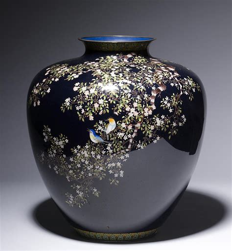 file ando cloisonn 233 company vase with flowering cherry