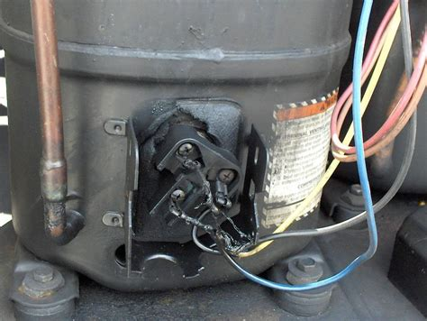 ac capacitor burnt wire melted compressor wires doityourself community forums