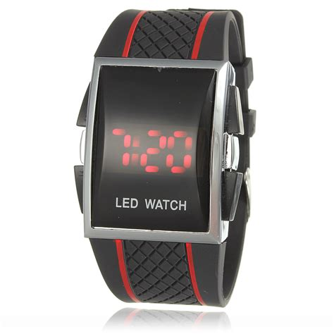 light led digital silicone watches