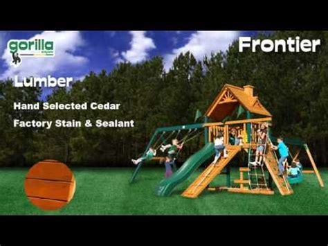 blue ridge frontier swing set frontier swing set gorilla playsets youtube