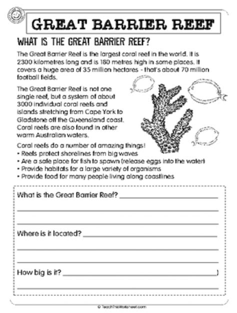 Coral Reef Worksheets For by Teach This Worksheets Create And Customise Your Own
