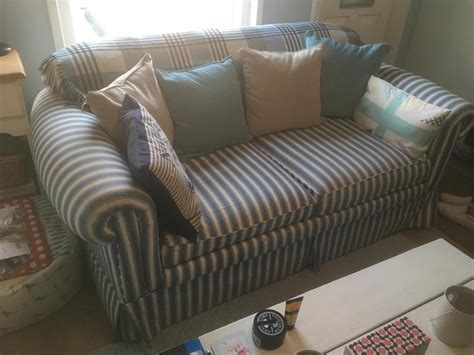 blue and white striped couch blue and white striped two seater sofa metal action