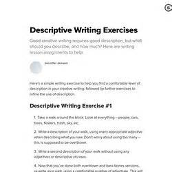 Descriptive Essay Exercises by How To In Pearltrees