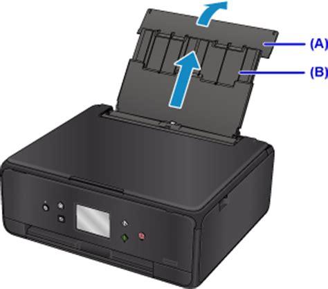Canon Printer Card Templates by キヤノン Pixus マニュアル Ts6000 Series 後トレイに用紙をセットする