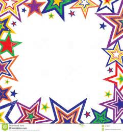 rainbow stars border vector stock image image 5618281