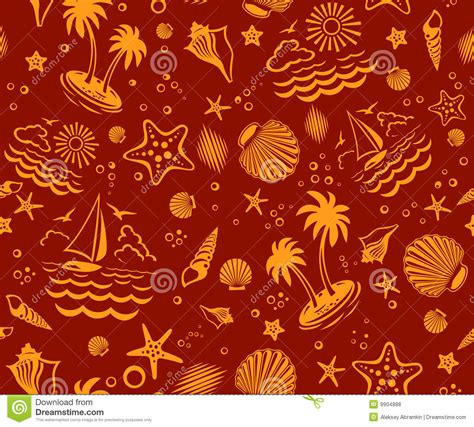 beach pattern photography seamless beach vector pattern stock vector illustration