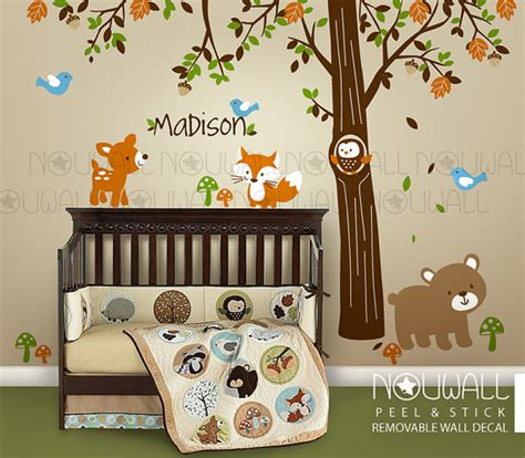 Forest Friends Baby Crib Bedding By Carters Carters Woodland Friends Tree Forest Friends With Custom Name