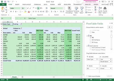 value field settings in pivot table excel 2007 how to