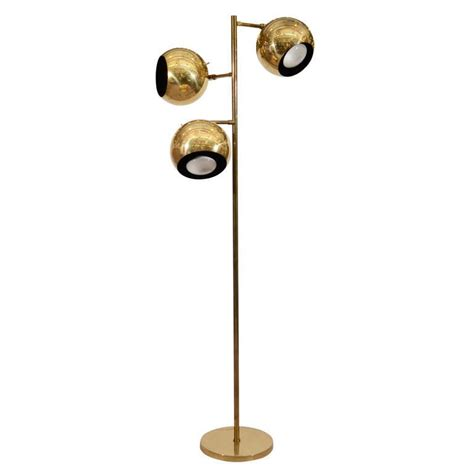 mid century globe floor l mid century brass floor l with globe lights at 1stdibs