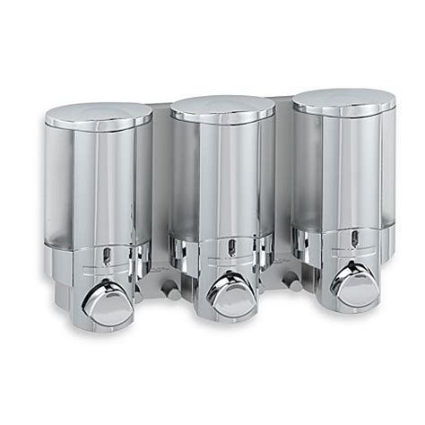 bathroom dispenser aviva 3 bottle chrome shower dispenser bed bath beyond