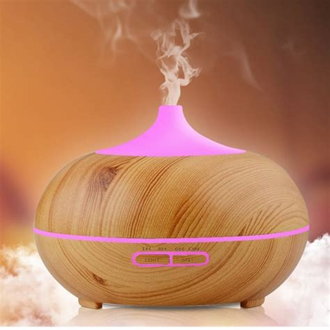 Aroma Diffuser D 008 d4 300ml ultrasonic aroma diffuser air humidifier purifier 7 color led light 4 timer 10
