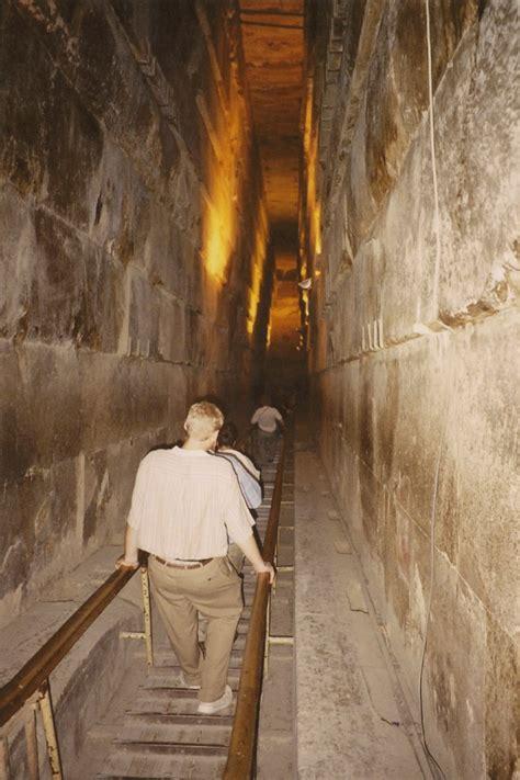 Pyramid Interior by The Pyramid Of Pharaoh Khufu