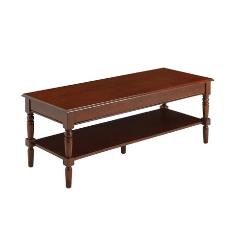 Convenience Concepts Coffee Table Convenience Concepts Country Espresso Coffee Table 6042184es The Home Depot