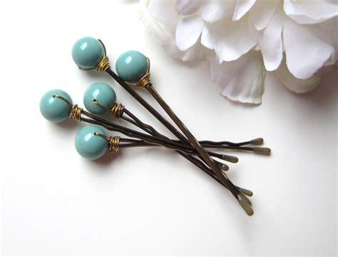 hair pin collection khopa jade green bobby pins wedding hair pin set