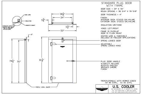 technical walk in drawings u s cooler walk ins