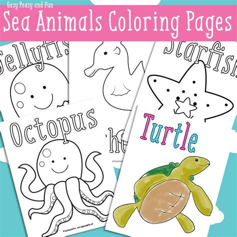 easy peasy coloring page ocean and sea animals coloring pages free printable