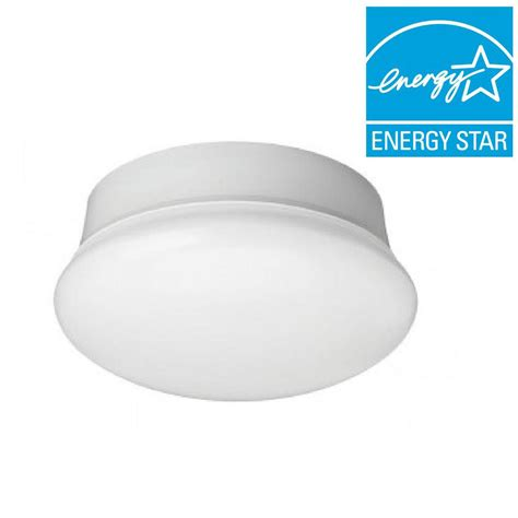 led replacement bulbs for ceiling commercial electric 7 in daylight white led flushmount